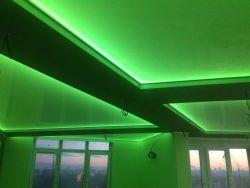 Глянцевое полотно зелёного цвета