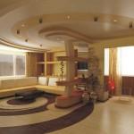 Многоуровневый фигурный потолок