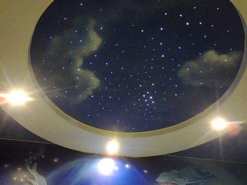 Небо со звёздами в детской комнате