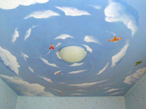 Небо с самолётами